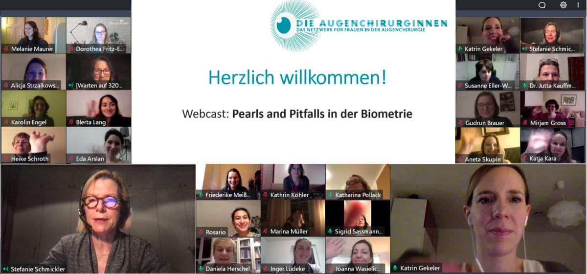 """Webcast """"Biometrie – pearls and pitfalls"""" des Vereins Die Augenchirurginnen: Zweiter Teil im März"""