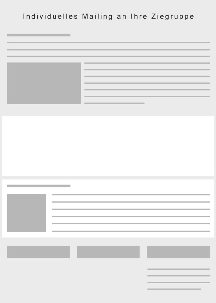 Unique Mailing, E-Blast, Individuelles Mailing für die Augenheilkunde, Ophthalmologie auf Eyefox.com