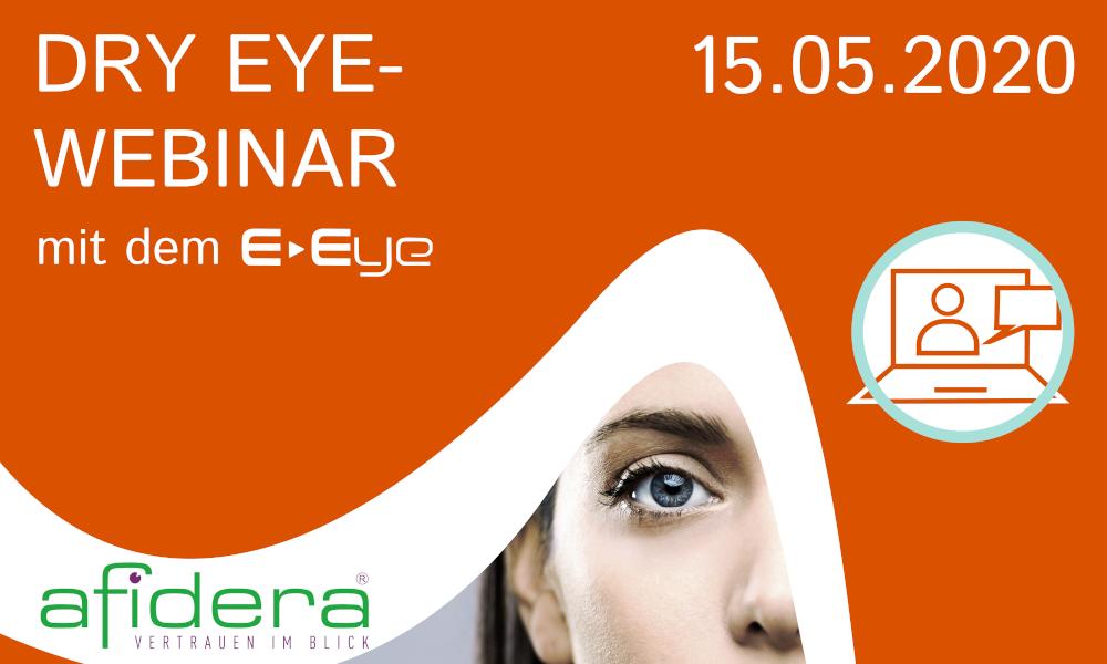 Jetzt anmelden für online Dry Eye Webinar mit dem E-Eye