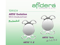 Afidera Artis Evolution Intraocularlinsen