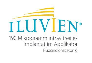 ILUVIEN 190 Mikrogramm intravitreales Implantat im Applikator. Wirkstoff: Fluocinolonacetonid. Zusammensetzung: Arzneilich wirksamer Bestandteil: 190 Mikrogramm Fluocinolonacetonid. Sonstige Bestandteile: Polyvinylalkohol, Polyimid-Röhrchen, Silikonklebstoff. Anwendungsgebiete: ILUVIEN ist zur Behandlung von Sehstörungen in Verbindung mit chronischem diabetischem Makulaödem indiziert, das auf verfügbare Therapien nur unzureichend anspricht. Gegenanzeigen: Bei vorbestehendem Glaukom oder bei aktiver oder vermuteter Infektion des Auges oder der Periokularregion, einschließlich der meisten Viruserkrankungen der Hornhaut oder Bindehaut, wie aktive epitheliale Herpes-simplex-Keratitis (dendritische Keratitis), Vaccinia, Varizellen, mykobakterieller Infektion und Pilzerkrankungen, ist die Anwendung eines intravitrealen Implantats mit ILUVIEN kontraindiziert. ILUVIEN ist kontraindiziert bei Patienten mit Überempfindlichkeit gegen den Wirkstoff oder einen der sonstigen Bestandteile. Anwendung bei Kindern und Jugendlichen, Schwangeren und Stillenden nicht empfohlen. Nebenwirkungen: Sehr häufig (≥ 1/10): Katarakt-Operation, Katarakt, erhöhter intraokulärer Druck, Glaskörpertrübungen (Myodesopsia). Häufig (≥ 1/100 bis < 1/10): Glaukom, Trabekulektomie, Augenschmerzen, Glaskörperblutung, Bindehautblutung, verschwommenes Sehen, Glaukomoperation, Sehschärfe vermindert, Vitrektomie, Trabekuloplastik. Gelegentlich (≥ 1/1.000 bis < 1/100): Endophthalmitis, Kopfschmerz, retinaler Gefäßverschluss, Erkrankung des Nervus opticus, Makulopathie, Optikusatrophie, Bindehautulkus, Neovaskularisation der Iris, retinale Exsudate, Glaskörperdegeneration, Glaskörperabhebung, Trübung der hinteren Augenkapsel, Adhäsionen der Iris, okuläre Hyperämie, Verdünnung der Sklera, Entfernung eines abgestoßenen Implantats aus der Sklera, Augenfluss, Augenjuckreiz, Implantatabstoßung, Implantat in der Sehachse, Komplikation bei einem Eingriff, Schmerzen während eines Eingriffs. Verschreibungspflichtig. Pharm