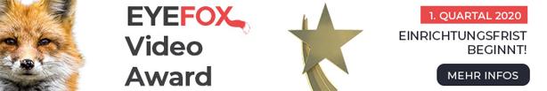 Eyefox Award 2020 - Jetzt Wettbewerbsbeitrag einreichen