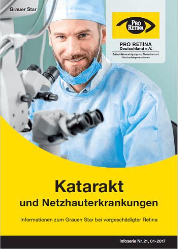 """Broschüre Bild Neuauflage """"Katarakt und Netzhauterkrankungen"""