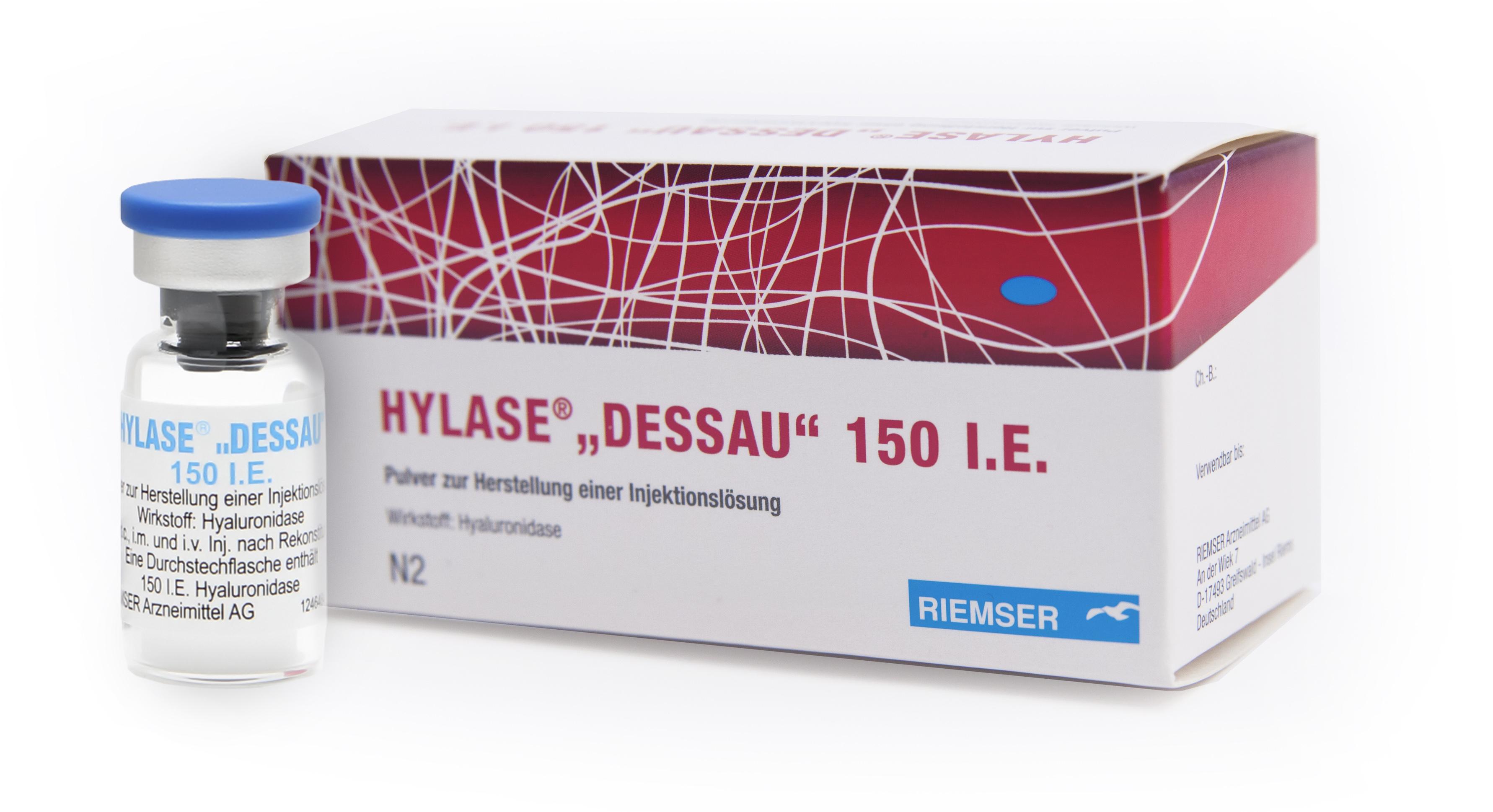"""HYLASE® """"DESSAU"""" - ein Enzympräparat mit dem Wirkstoff Hyaluronidase."""