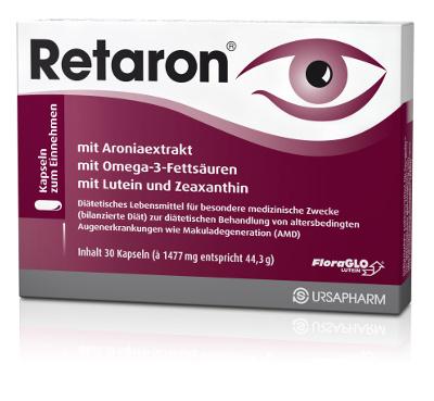 URSAPHARM Retaron Kapseln mit Aroniaextrakt, Omega-3, Lutein und Zeaxanthin